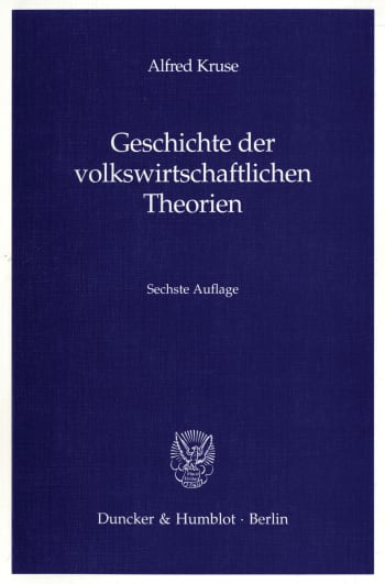 Cover: Geschichte der volkswirtschaftlichen Theorien