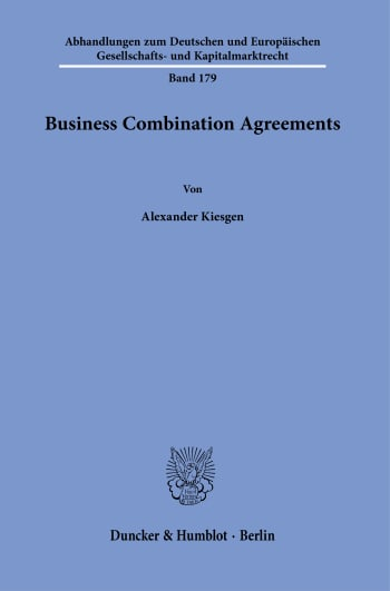 Cover: Business Combination Agreements