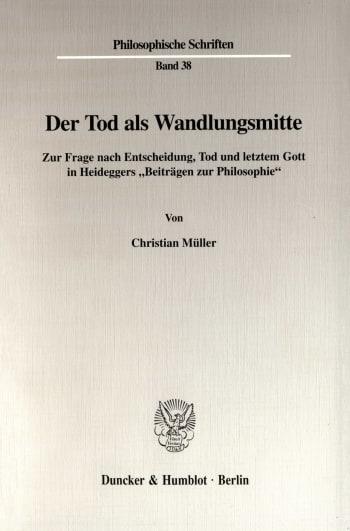 Cover: Der Tod als Wandlungsmitte