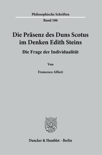 Cover: Die Präsenz des Duns Scotus im Denken Edith Steins
