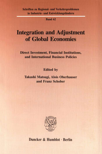 Cover: Integration and Adjustment of Global Economies