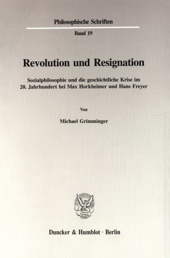 Cover: Revolution und Resignation