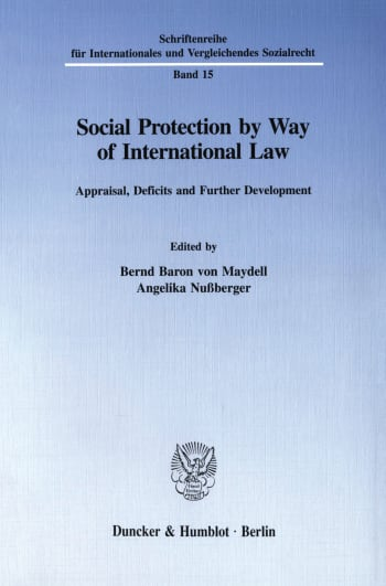 Cover: Social Protection by Way of International Law