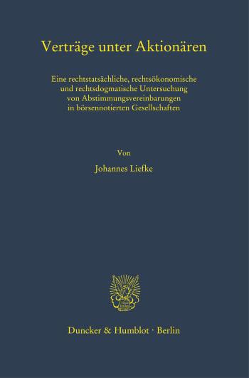 Cover: Verträge unter Aktionären