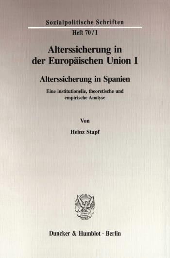 Cover: Alterssicherung in der Europäischen Union I