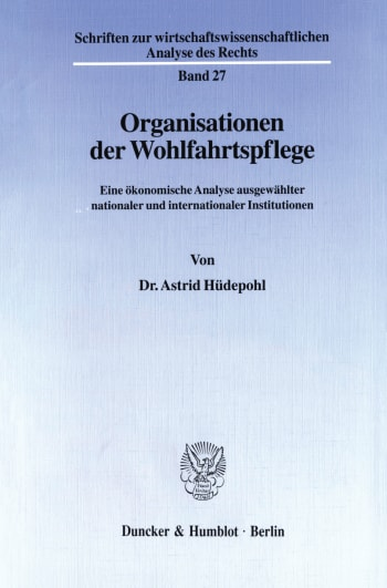 Cover: Organisationen der Wohlfahrtspflege