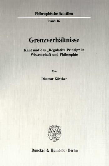Cover: Grenzverhältnisse
