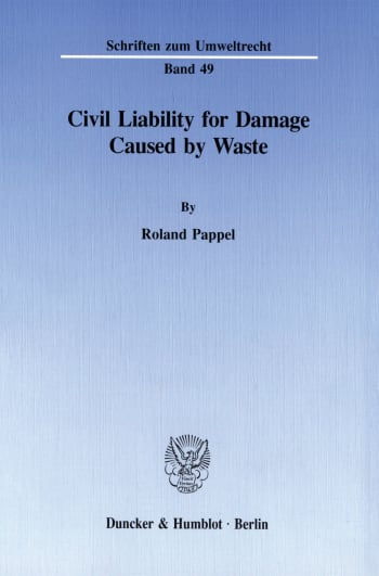 Cover: Civil Liability for Damage Caused by Waste