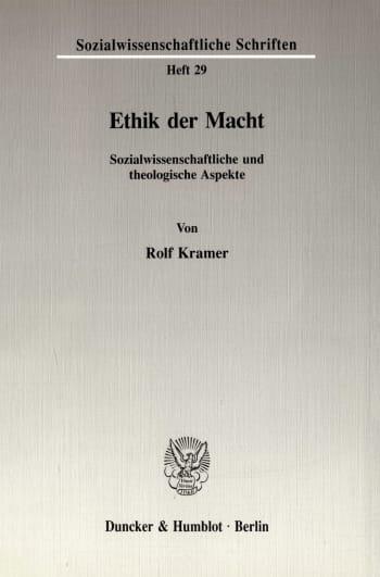 Cover: Ethik der Macht
