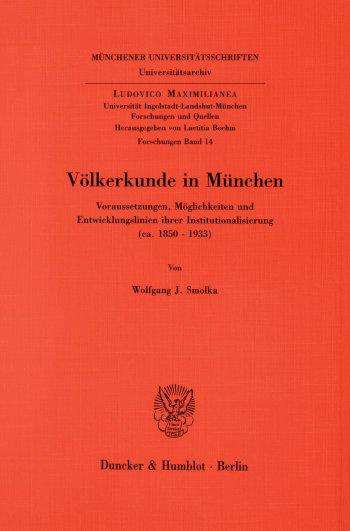 Cover: Völkerkunde in München