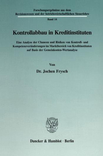Cover: Forschungsergebnisse aus dem Revisionswesen und der betriebswirtschaftlichen Steuerlehre (RBS)