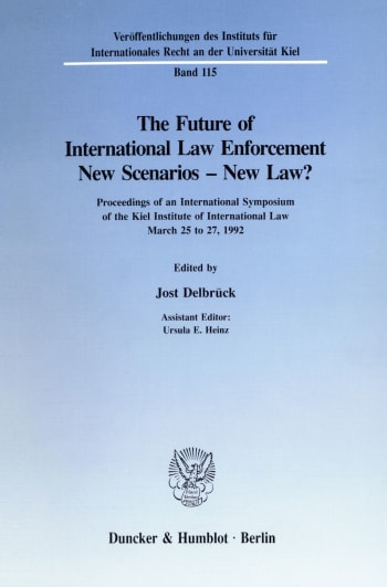 Cover: The Future of International Law Enforcement. New Scenarios - New Law?