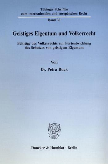 Cover: Geistiges Eigentum und Völkerrecht