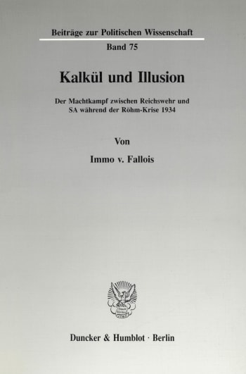 Cover: Kalkül und Illusion
