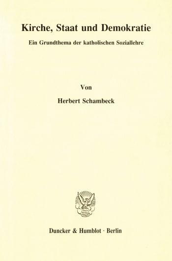 Cover: Kirche, Staat und Demokratie