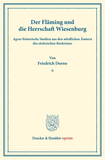 Cover: Der Fläming und die Herrschaft Wiesenburg