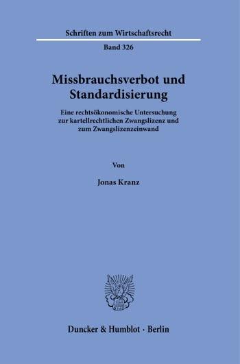 Cover: Missbrauchsverbot und Standardisierung