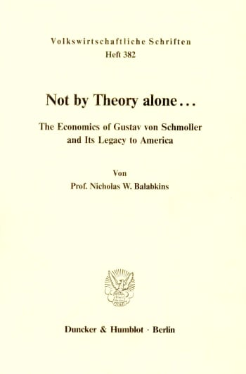 Cover: Not by Theory alone ..