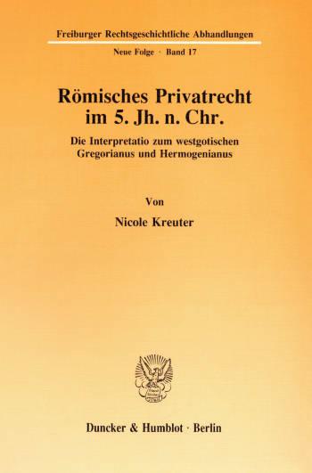 Cover: Römisches Privatrecht im 5. Jh. n. Chr