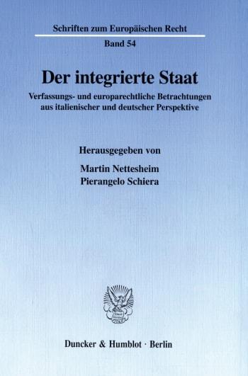 Cover: Der integrierte Staat