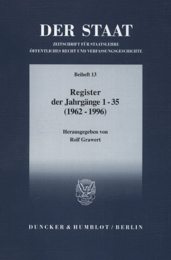Cover: DER STAAT