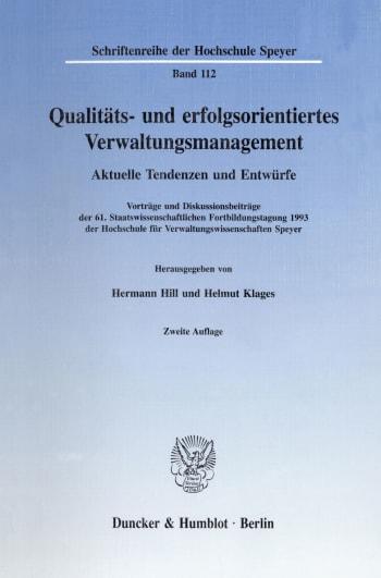 Cover: Qualitäts- und erfolgsorientiertes Verwaltungsmanagement