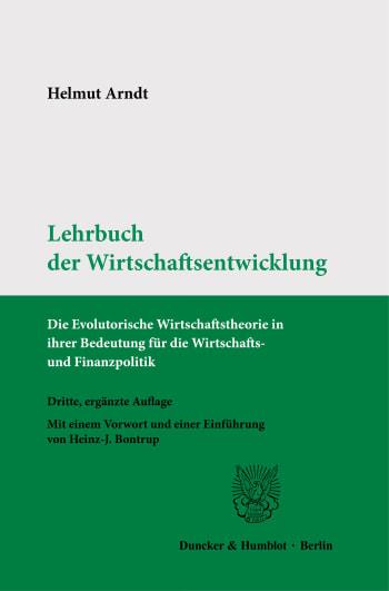 Cover: Lehrbuch der Wirtschaftsentwicklung