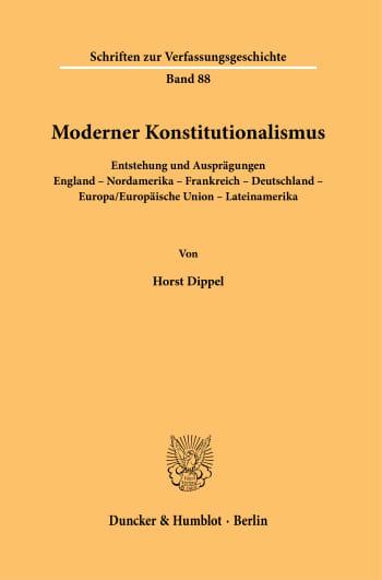Cover: Moderner Konstitutionalismus