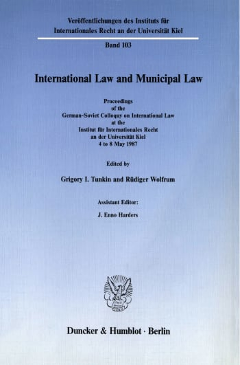 Cover: International Law and Municipal Law