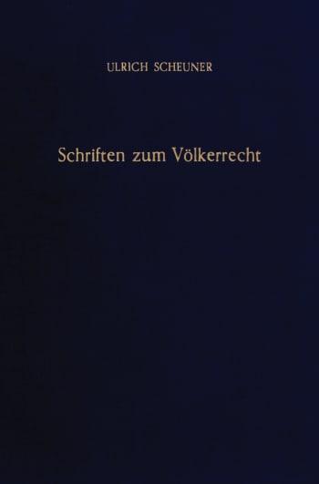 Cover: Schriften zum Völkerrecht