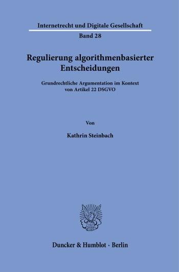 Cover: Regulierung algorithmenbasierter Entscheidungen