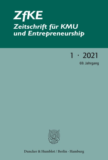 Cover: ZfKE – Zeitschrift für KMU und Entrepreneurship (ZfKE)