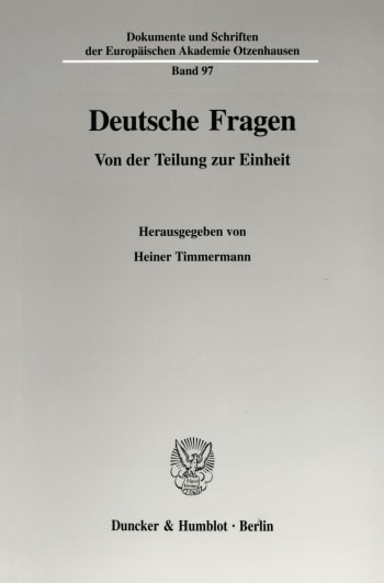 Cover: Dokumente und Schriften der Europäischen Akademie Otzenhausen (EAO)