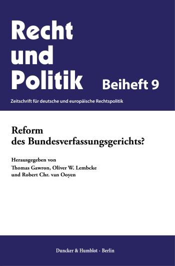 Cover: Reform des Bundesverfassungsgerichts?