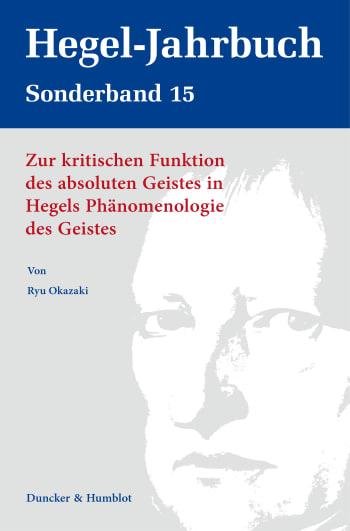 Cover: Hegel-Jahrbuch Sonderband (SB HGJB)