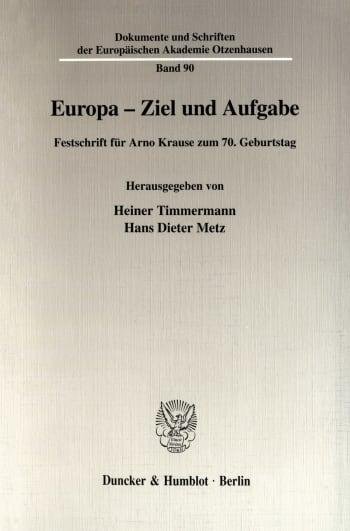 Cover: Europa - Ziel und Aufgabe