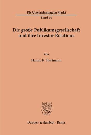 Cover: Die Unternehmung im Markt (UM)