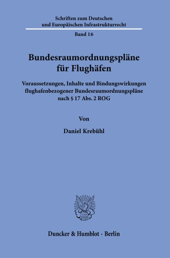 Cover: Bundesraumordnungspläne für Flughäfen