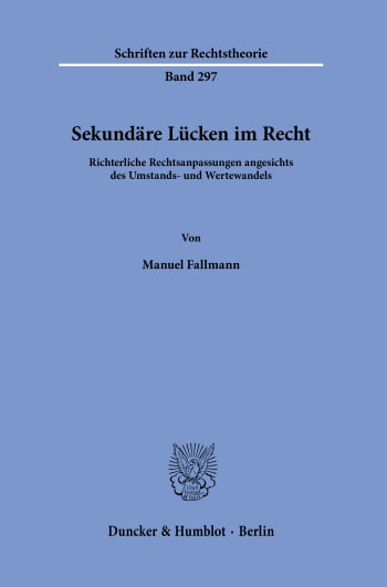 Cover: Sekundäre Lücken im Recht