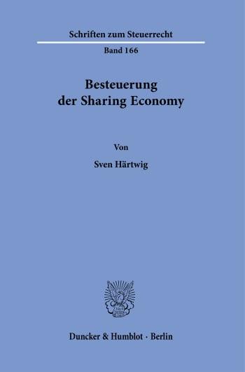 Cover: Besteuerung der Sharing Economy