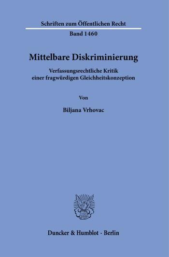 Cover: Mittelbare Diskriminierung