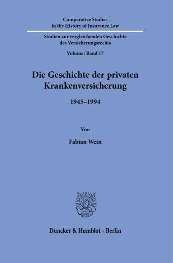 Cover: Die Geschichte der privaten Krankenversicherung