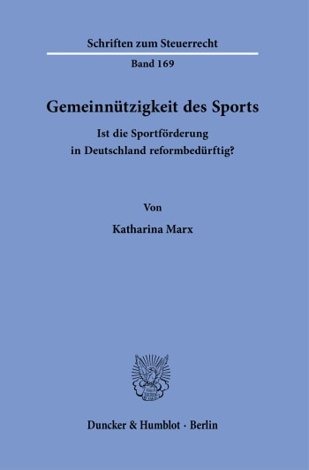Cover: Schriften zum Steuerrecht (SSR)