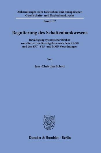 Cover: Regulierung des Schattenbankwesens