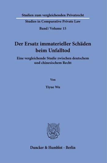 Cover: Studien zum vergleichenden Privatrecht / Studies in Comparative Private Law (SVP)