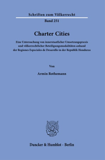 Cover: Charter Cities