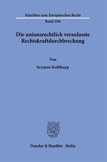 Cover: Schriften zum Europäischen Recht (EUR)