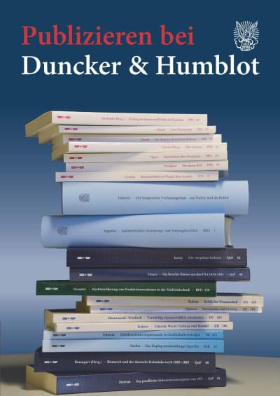 Publizieren bei Duncker & Humblot