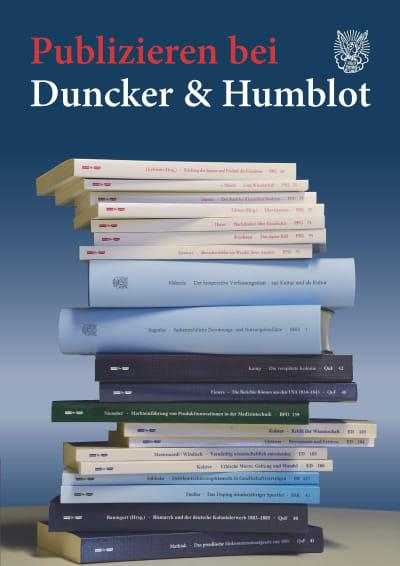 Publizieren bei Duncker & Humblot