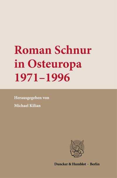 Cover Roman Schnur in Osteuropa 1971–1996